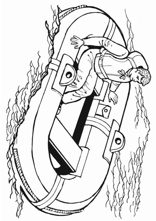 Dibujo Para Colorear Bote Salvavidas Img 13221