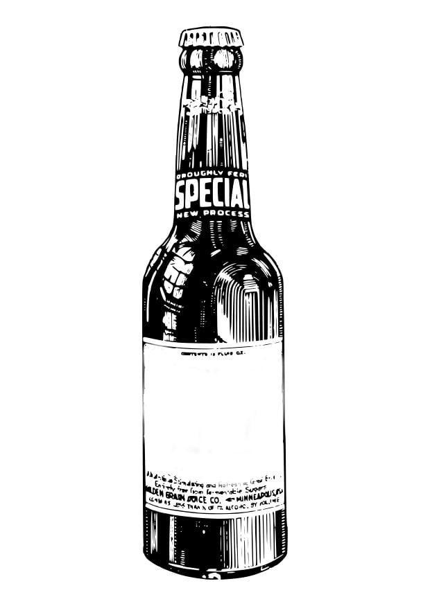 Dibujo para colorear botella de cerveza  Img 27577