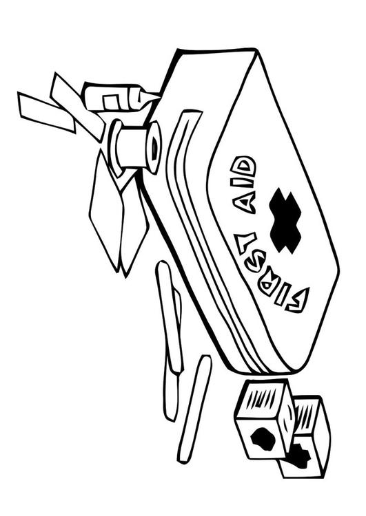 Dibujo para colorear botiquín de primeros auxilios - Img 22791