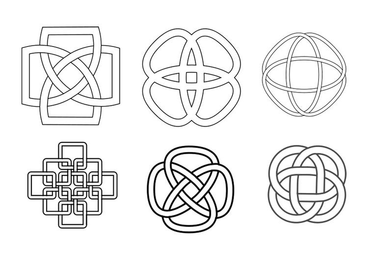 Dibujo Para Colorear Botones Celtas
