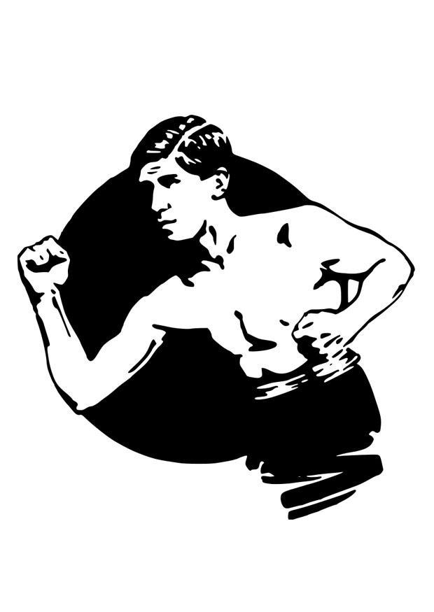 Dibujo para colorear boxeador img 28954 - Dessin de boxer ...