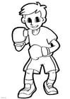 Dibujo para colorear boxear