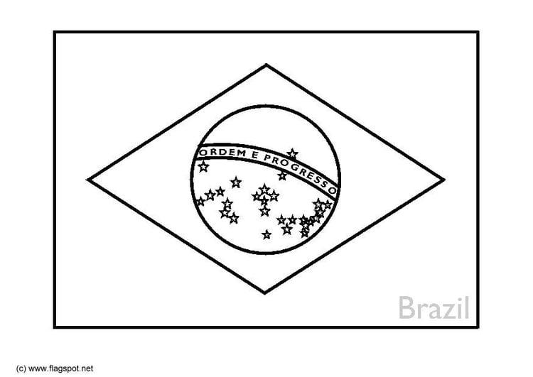 Dibujo Para Colorear Brasil