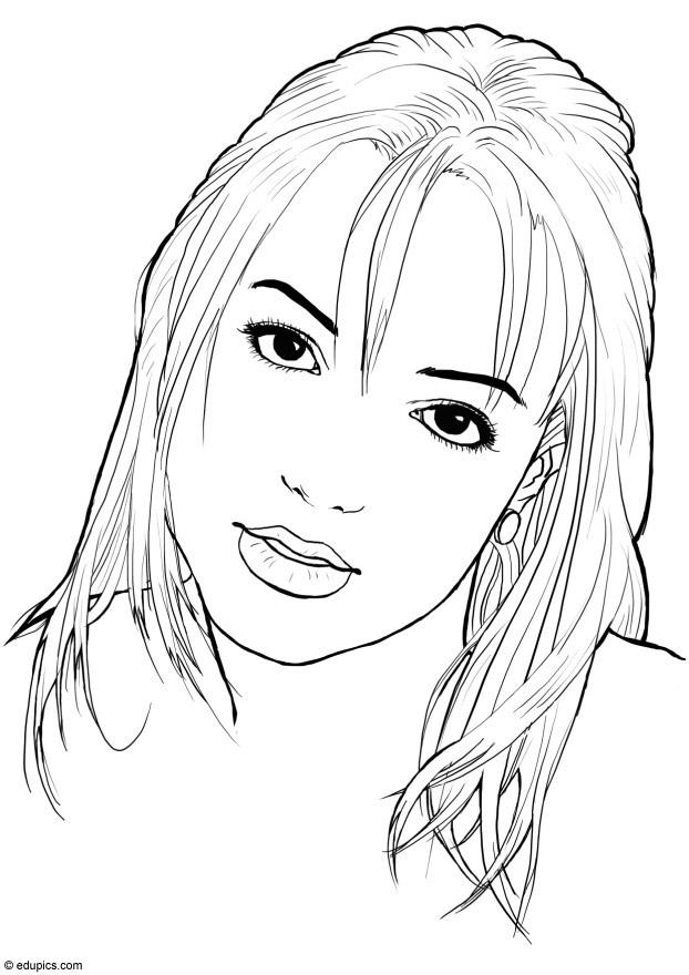 Rihanna Coloring Pages For Kids