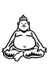 Dibujo para colorear Buda