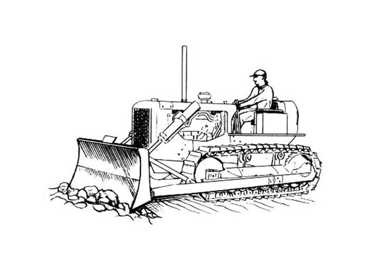 Dibujo para colorear bulldozer - Img 19130