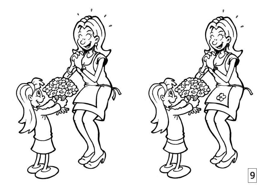 Dibujo De Madre E Hija Para Colorear