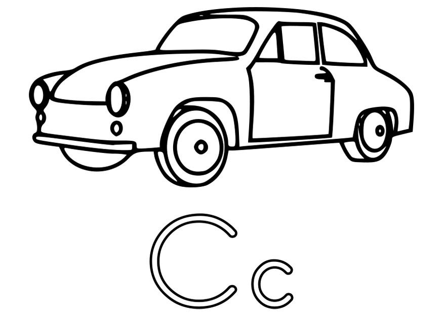 Dibujo para colorear c - Img 22493