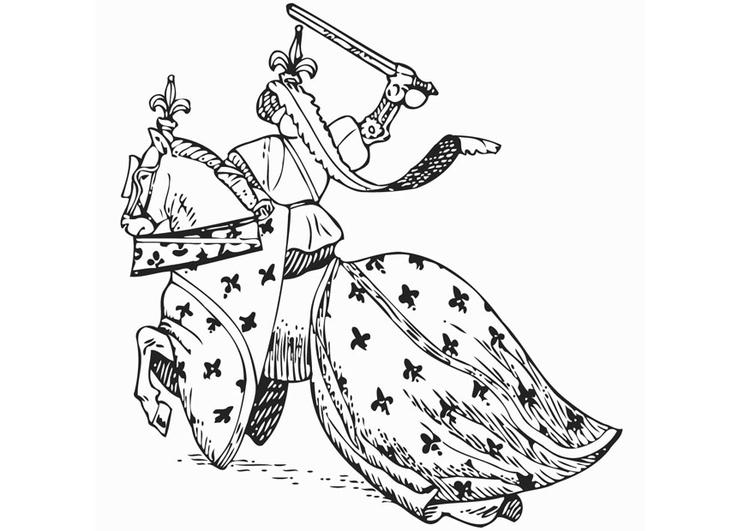 Dibujo Para Colorear Caballero A Caballo Img 12894