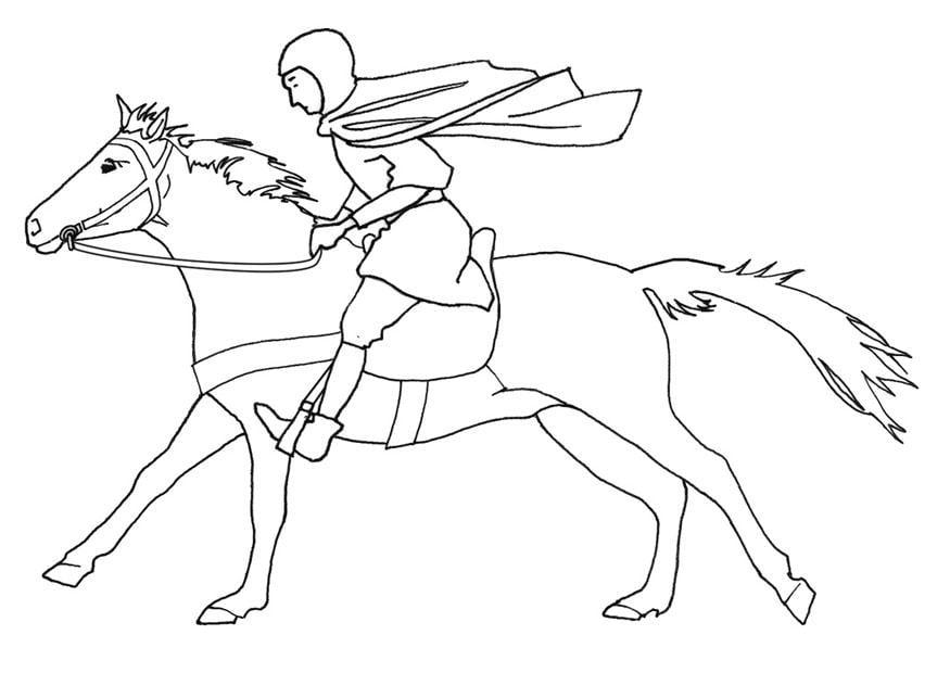Paarden Kleurplaten Tinker Dibujo Para Colorear Caballero Al Galope Dibujos Para