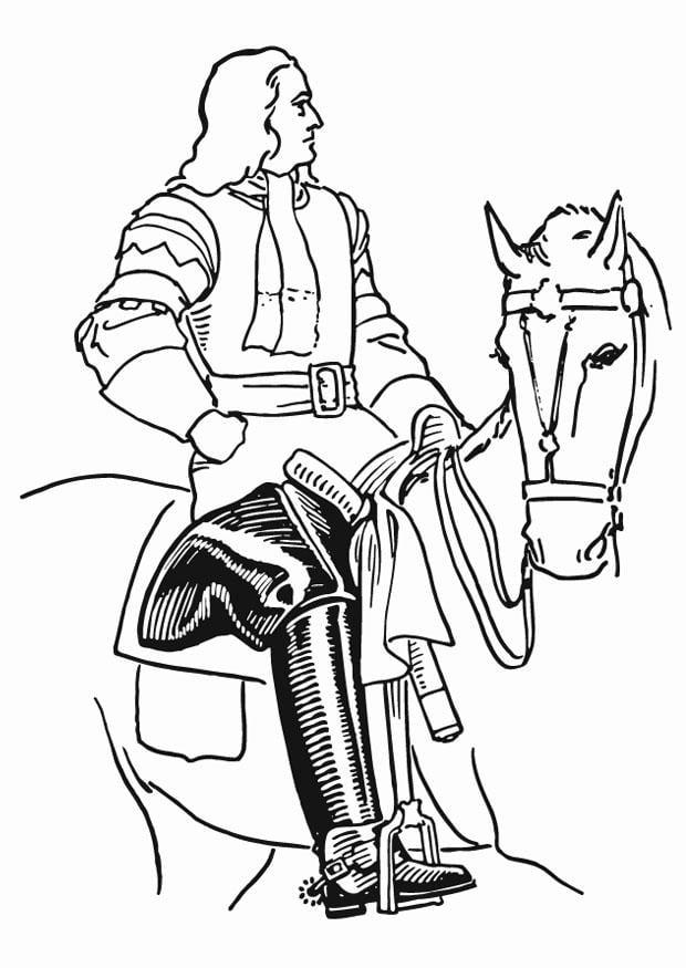 Dibujo Para Colorear Caballero Con Botas Img 13279