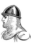 Dibujo para colorear Caballero con casco