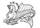 Dibujo para colorear Caballito de mar