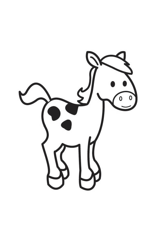 Dibujo para colorear caballo - Img 18415