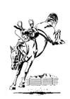 Dibujo para colorear caballo encabritado