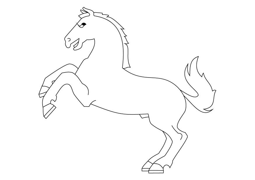 Dibujo para colorear Caballo levantado - Img 9872