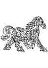 Dibujo para colorear caballo