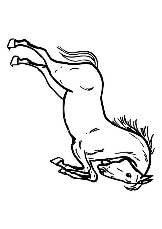 Paarden Kleurplaate Dibujo Para Colorear Caballo Saltando Img 10362