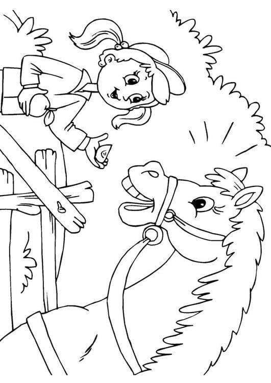 Kleurplaat Paardrn Dibujo Para Colorear Caballo Y Ni 241 A Img 25971