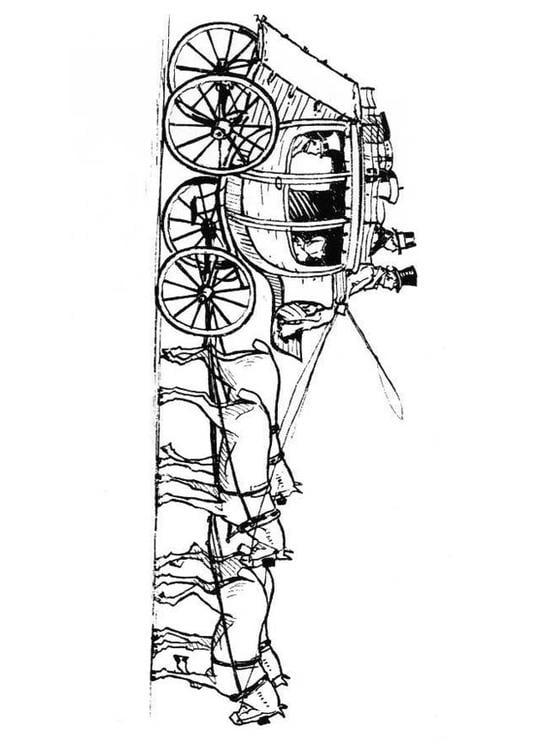 Dibujo Para Colorear Caballos Con Carro Img 18980