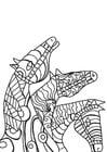 Dibujo para colorear caballos