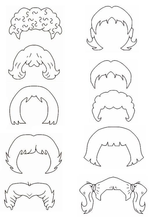 Dibujo para colorear cabello - Img 27226