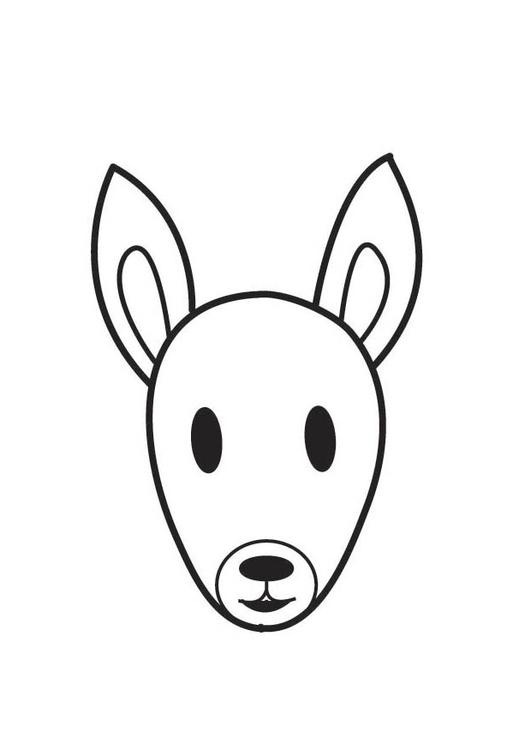 Dibujo para colorear cabeza de ardilla - Img 17544