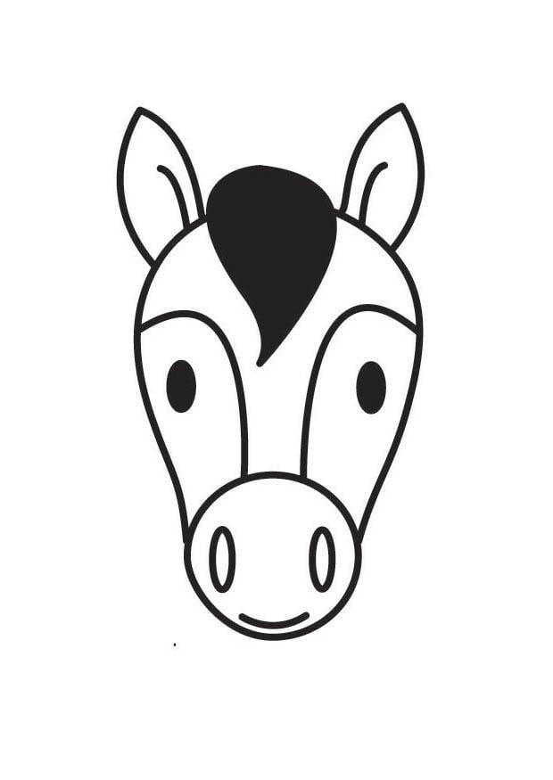 Dibujo para colorear cabeza de caballo - Img 18414