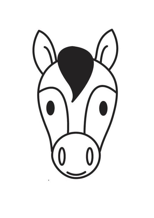 Dibujo para colorear cabeza de caballo  Img 18414