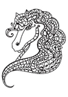 Dibujo para colorear Cabeza de caballo
