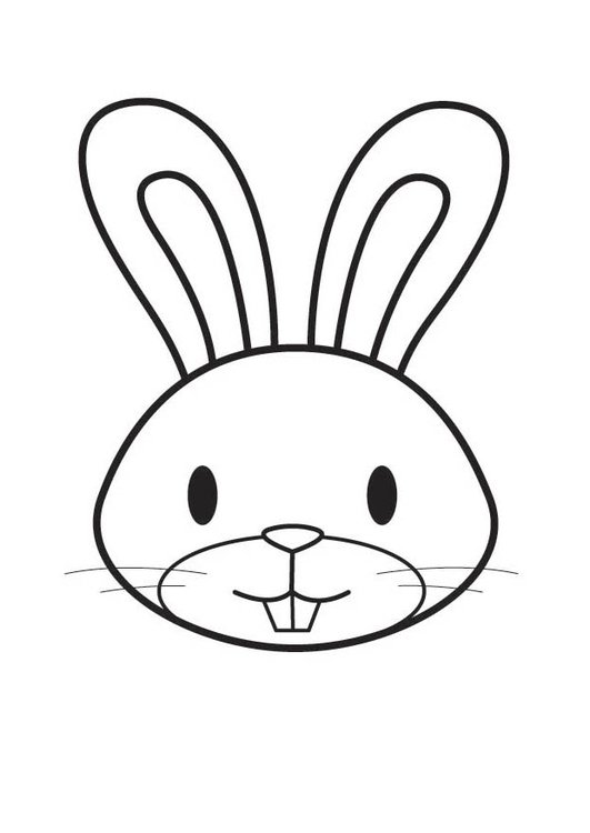 Dibujo Para Colorear Cabeza De Conejo Img 17563