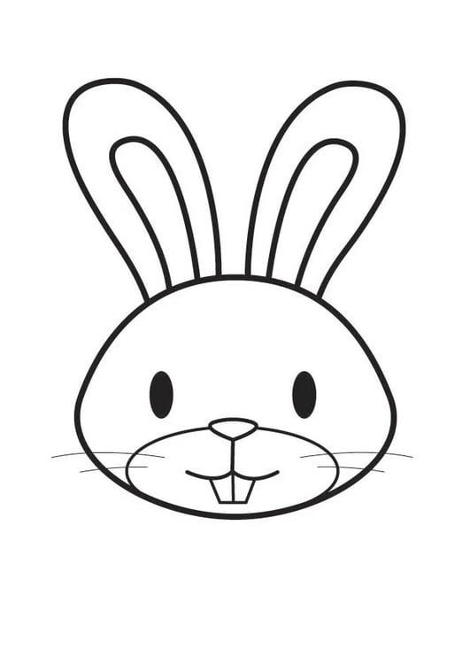 Dibujo para colorear cabeza de conejo - Img 17976