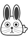 Dibujo para colorear cabeza de conejo