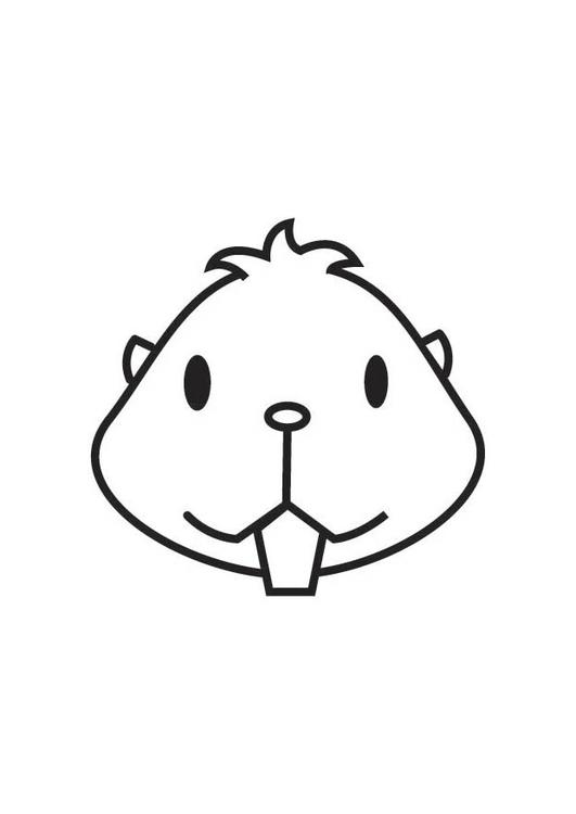 Dibujo para colorear cabeza de hamster - Img 17850