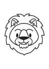 Dibujo para colorear cabeza de león