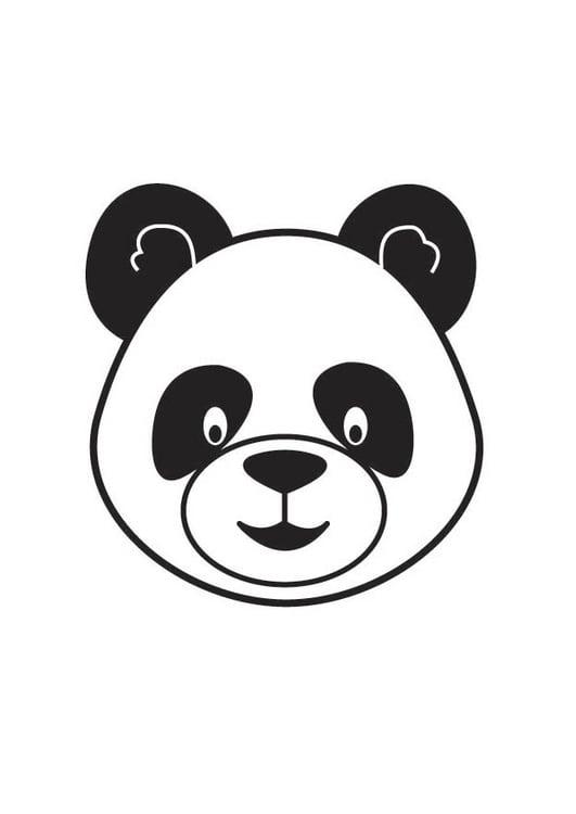 Dibujo para colorear cabeza de panda - Img 17802