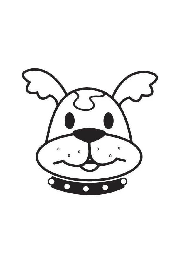 Dibujo Para Colorear Cabeza De Perro Dibujos Para