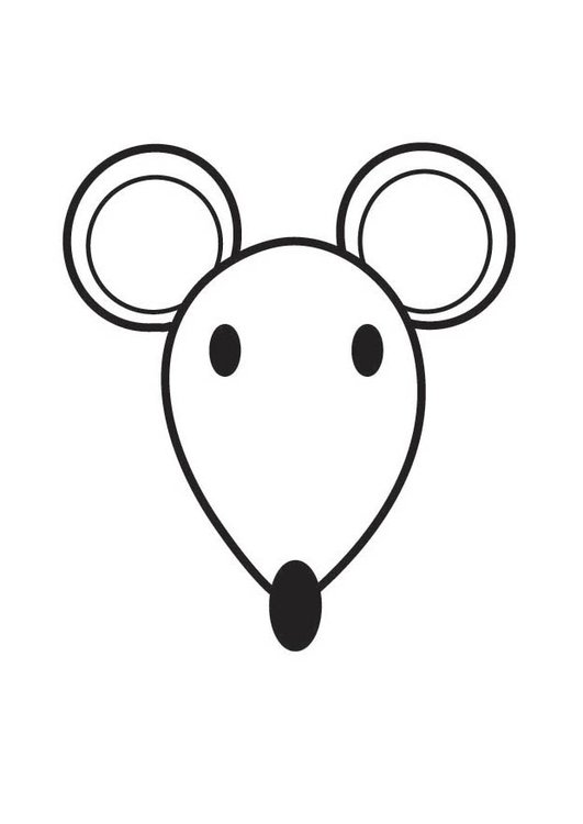 dibujo para colorear cabeza de ratón img 17755