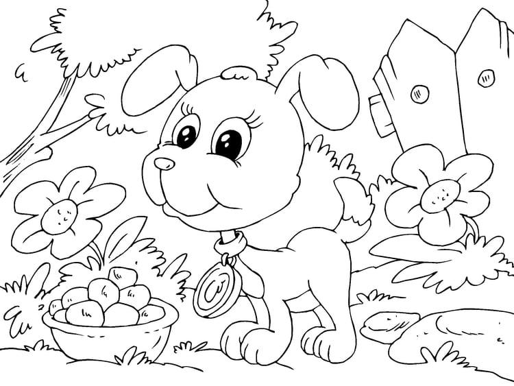 Dibujo para colorear cachorro - Img 22682