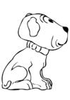 Dibujo para colorear cachorro