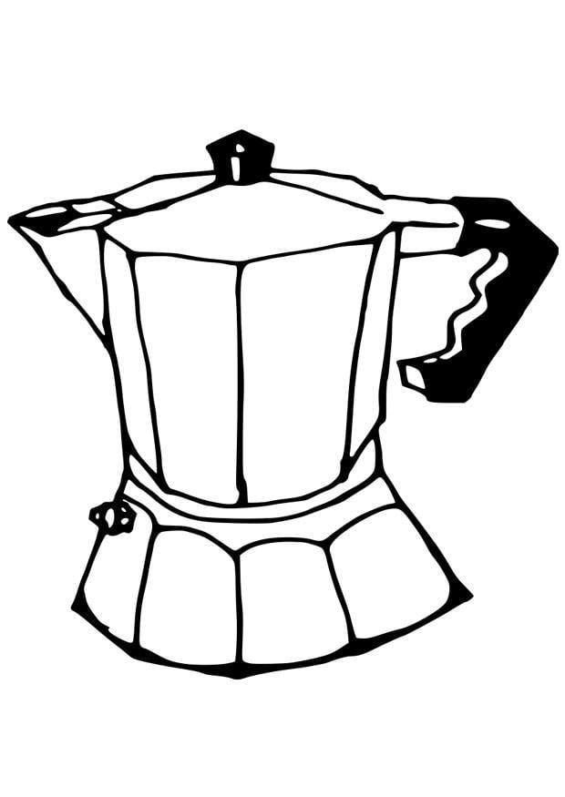 Dibujo Para Colorear Cafetera Img 19087