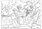 Dibujo para colorear Caín y Abel