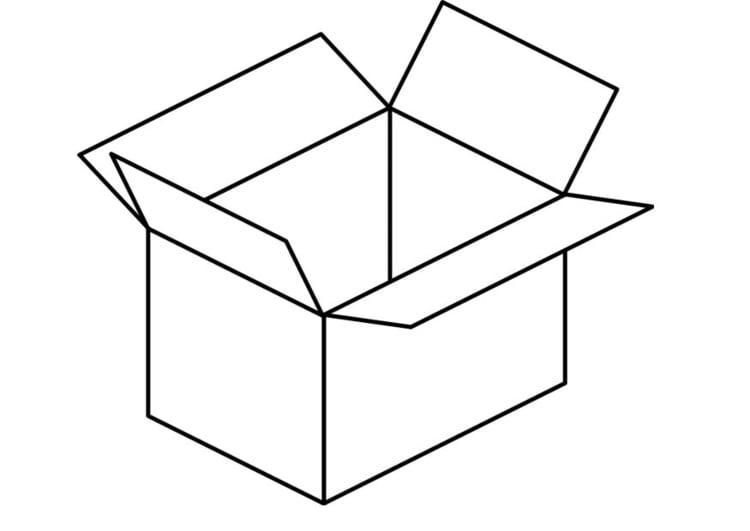 Dibujo Para Colorear Caja