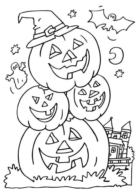 Dibujo para colorear calabazas de halloween img 6503 - Calabazas para imprimir ...