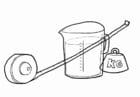 Dibujo para colorear Cálculos de medición
