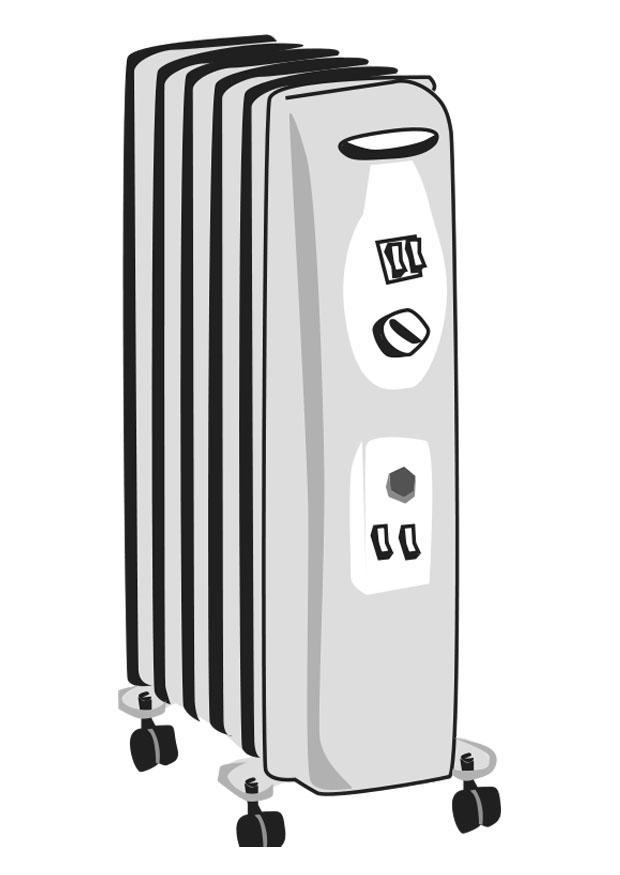 Dibujo para colorear calefacci n el ctrica img 24783 - Calefaccion electrica consumo ...