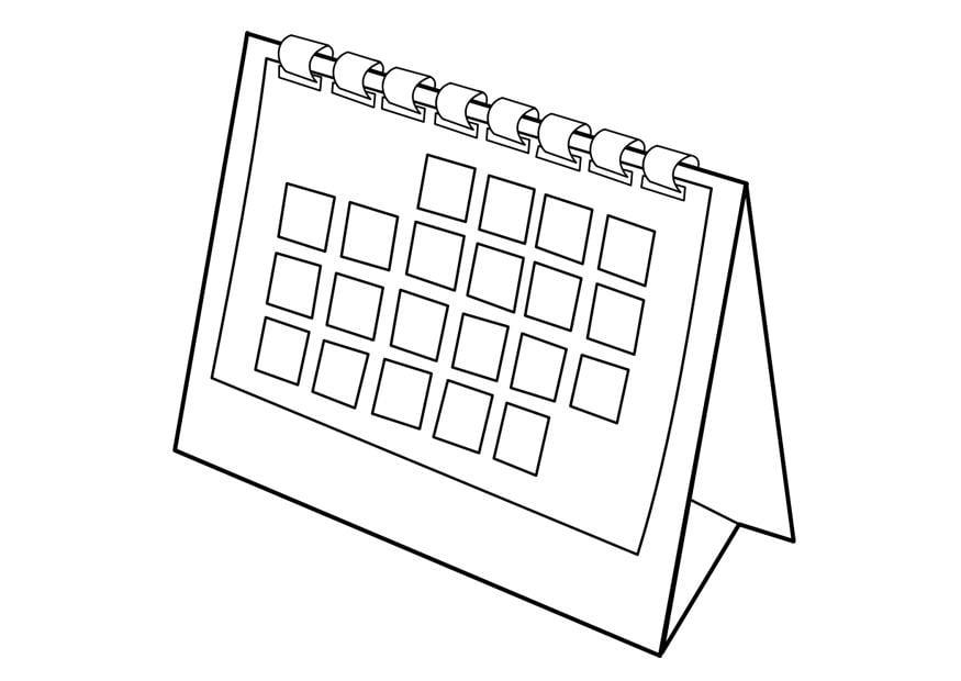 Dibujo para colorear calendario - Img 29533