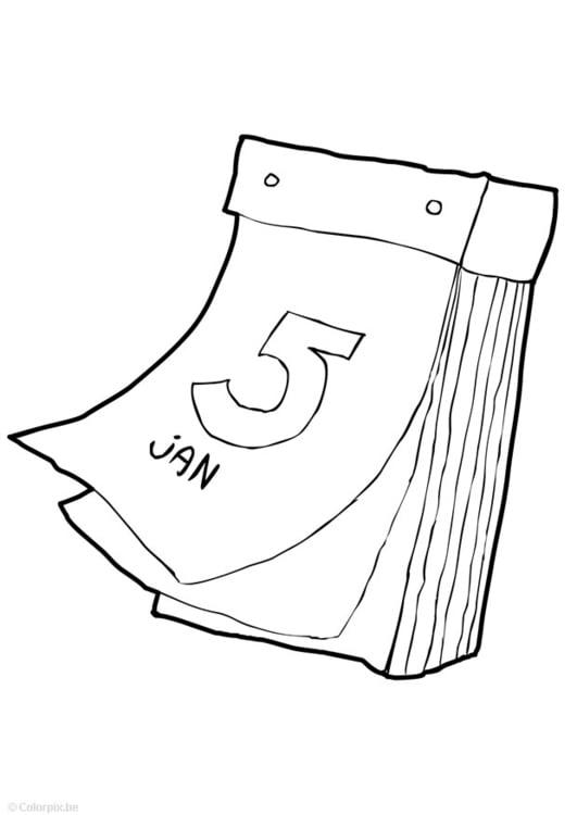 Dibujo para colorear calendario - Img 14940