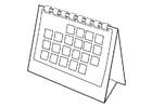 Dibujo para colorear calendario
