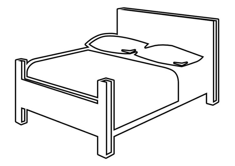 Dibujo para colorear cama - Img 22531